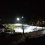 Abschluss der Umrüstung der Flutlichtanlagen auf den beiden Trainingsplätzen auf LED-Technik